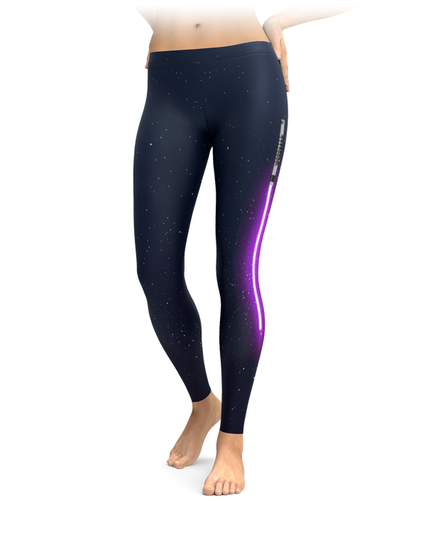 Purple Light Saber Leggings