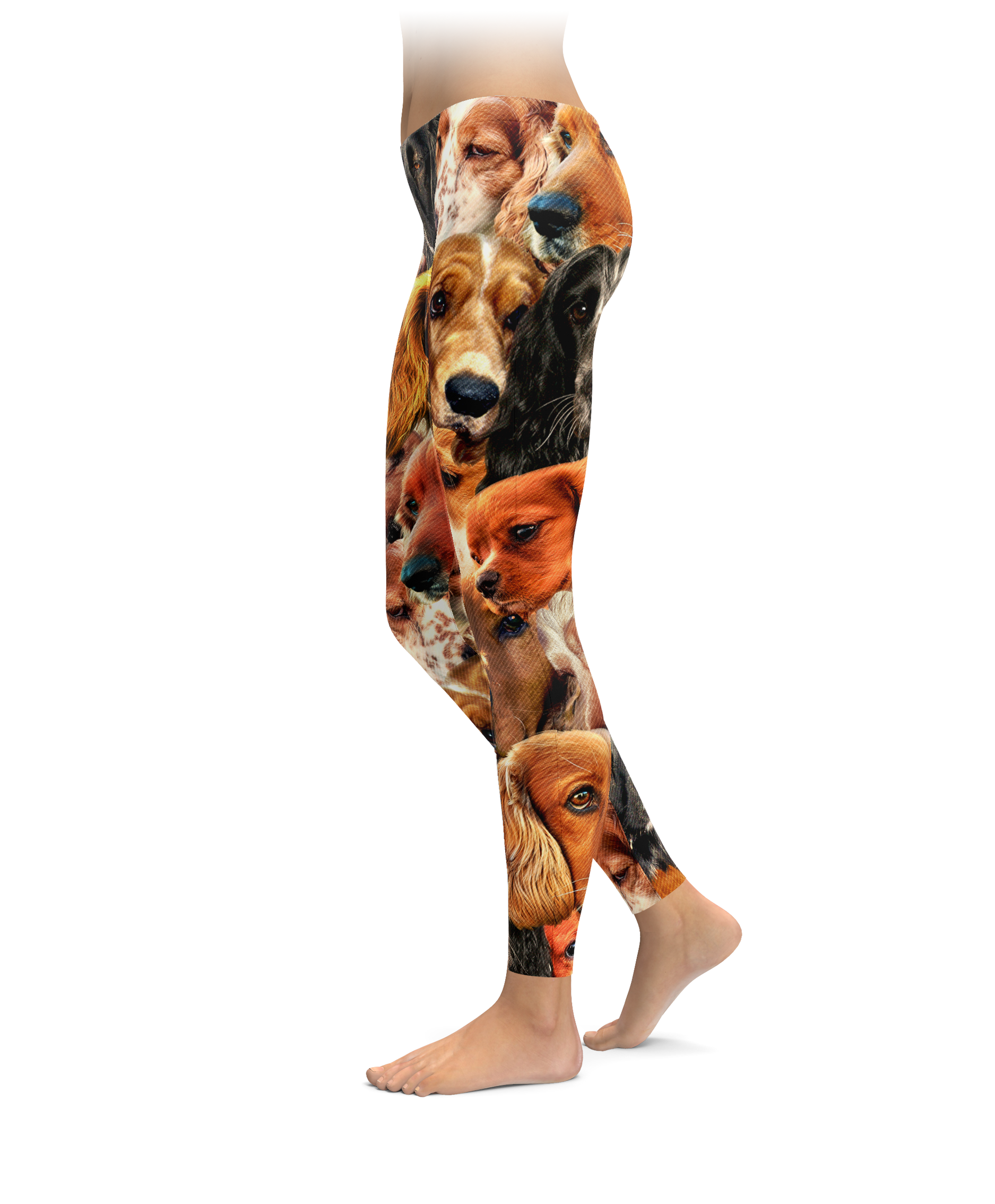 Spaniels on Spaniels on Spaniels Leggings