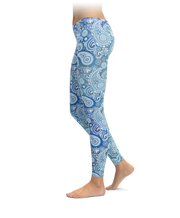 Blues On Blues Paisley Leggings