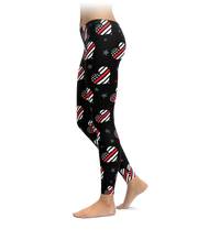 Thin Red Line Hearts Leggings
