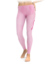 Ornate Ribbon Breast Cancer Leggings