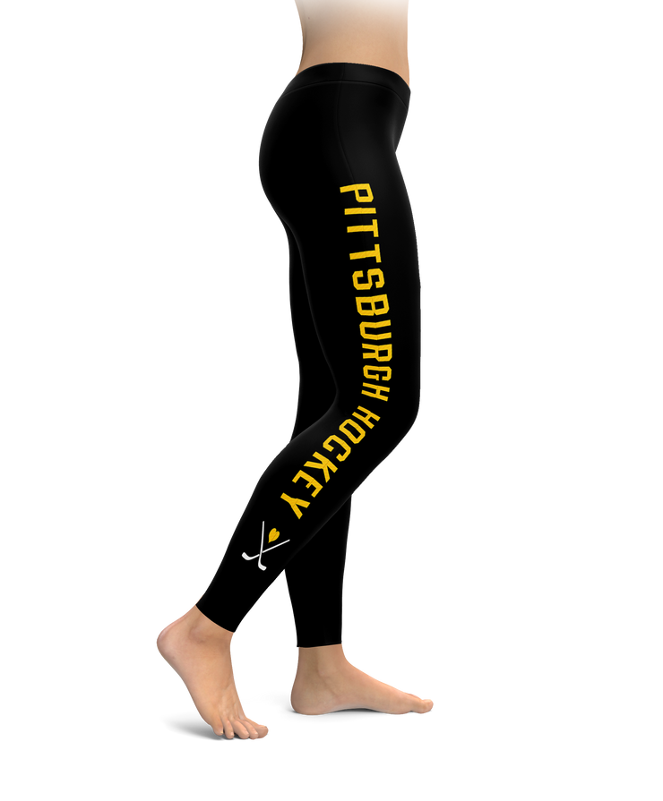 Life Is Better When We Stick Together Pittsburgh Hockey Leggings
