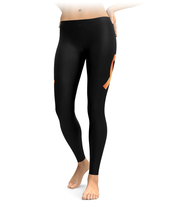 Leukemia Awareness Ribbon Leggings