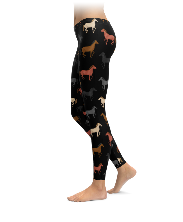 Multicolored Horse Leggings