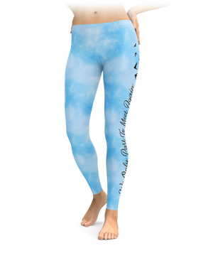 We Only Part To Meet Again - Sky Leggings