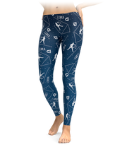 Libra Zodiac Sign Leggings