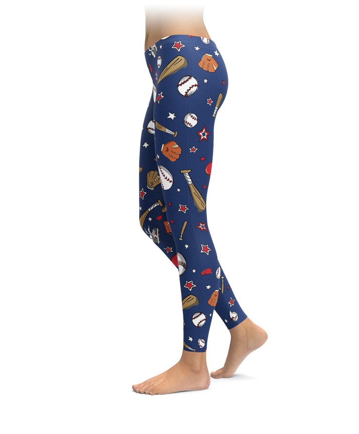 Chicago Baseball Cartoon Leggings