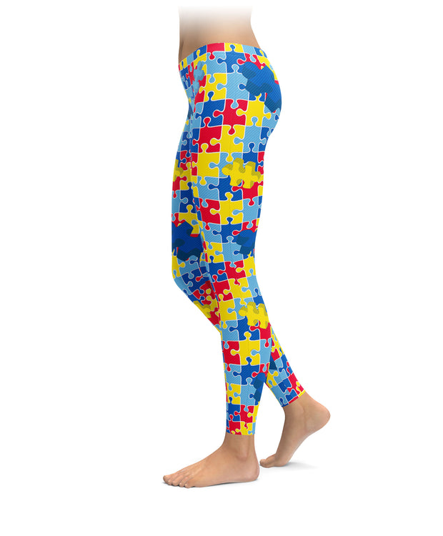 Autism Puzzle Piece Leggings