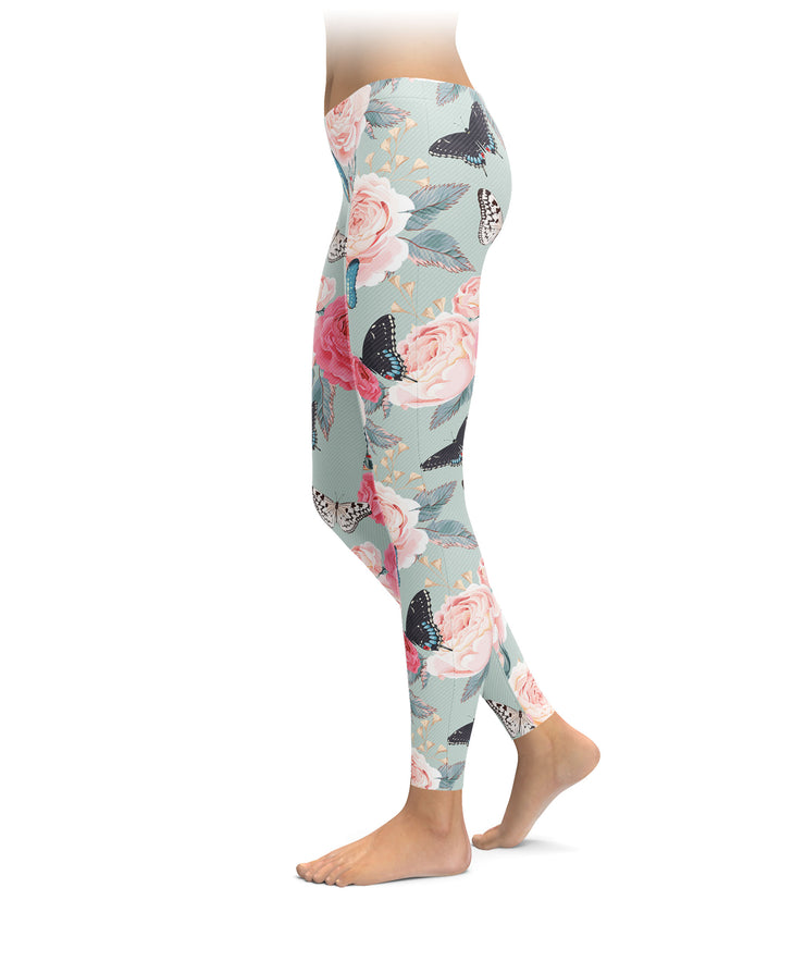 Roses & Butterflies Leggings