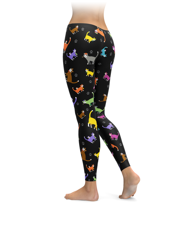 Colorful Cat Leggings