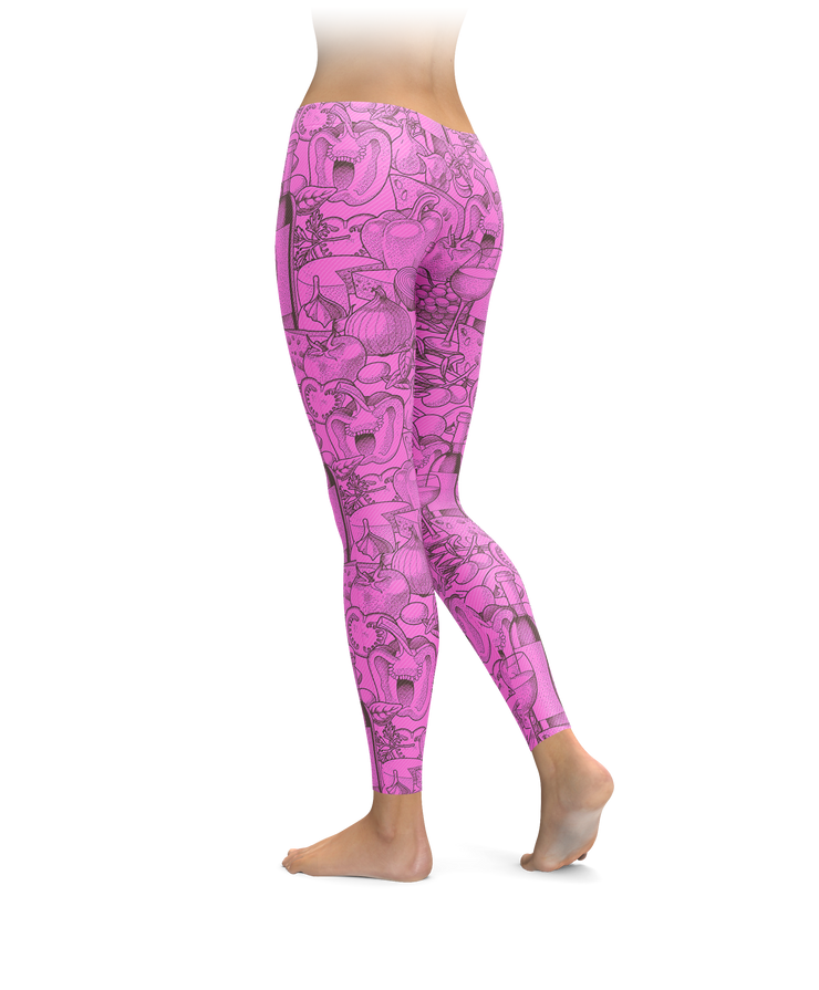 Pink Wine Lifestyle Leggings