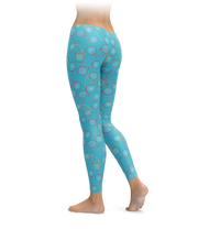 Fun Bikes - Turquoise Leggings