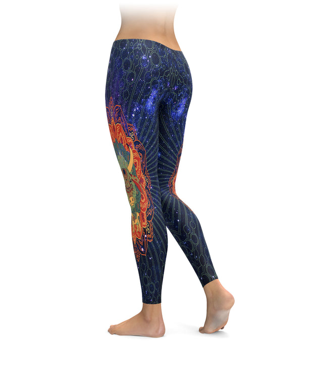 Mandala Cow Leggings
