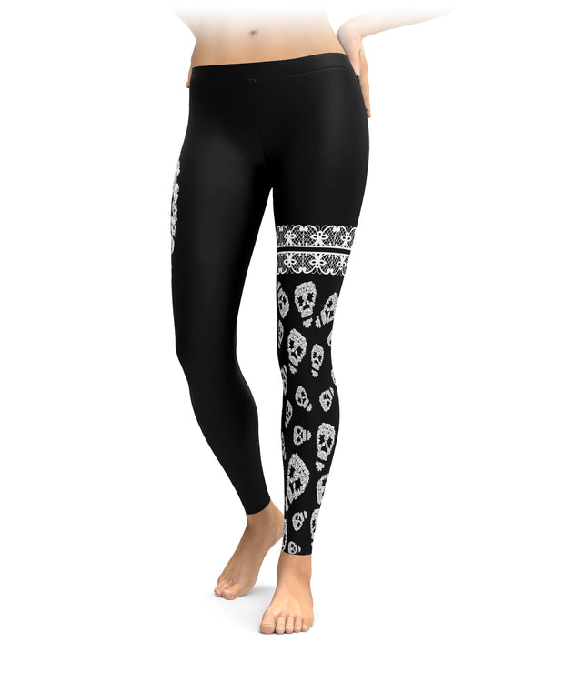 Boxer Dog Skull Cloud Leggings