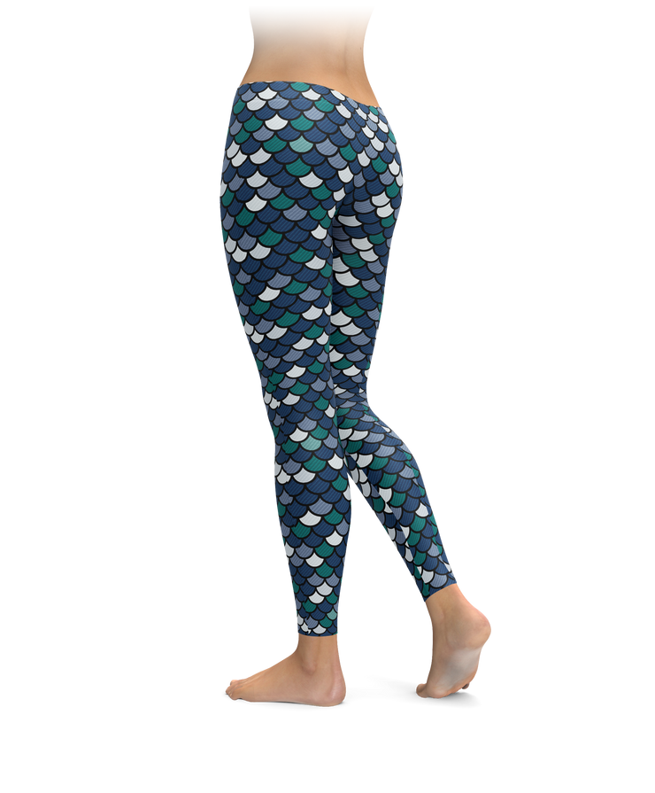 Seattle Mermaid Scale Leggings