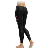 Breast Cancer Awareness Heartbeat Leggings