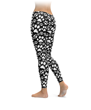 White Paw Leggings