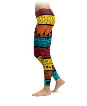 African Lion Pattern Leggings