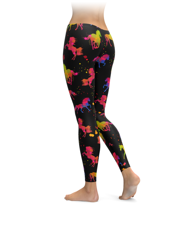 Paint Splatter Horse Leggings