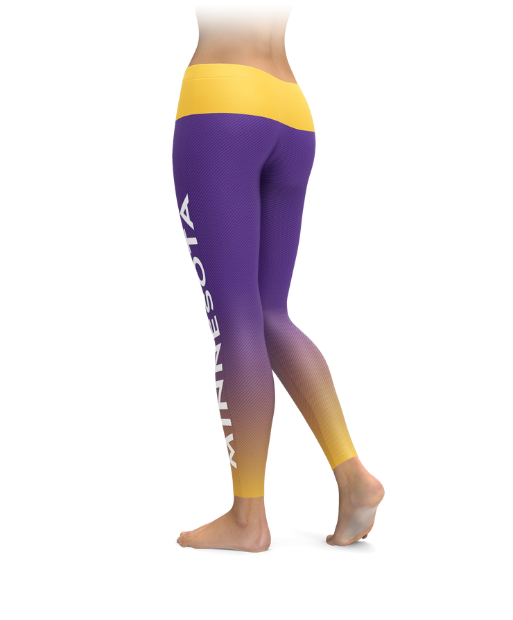 Minnesota Gradient City Football Leggings