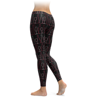 Wine Outline Leggings