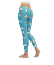 Jack Russell Terrier Cartoons All Over Leggings