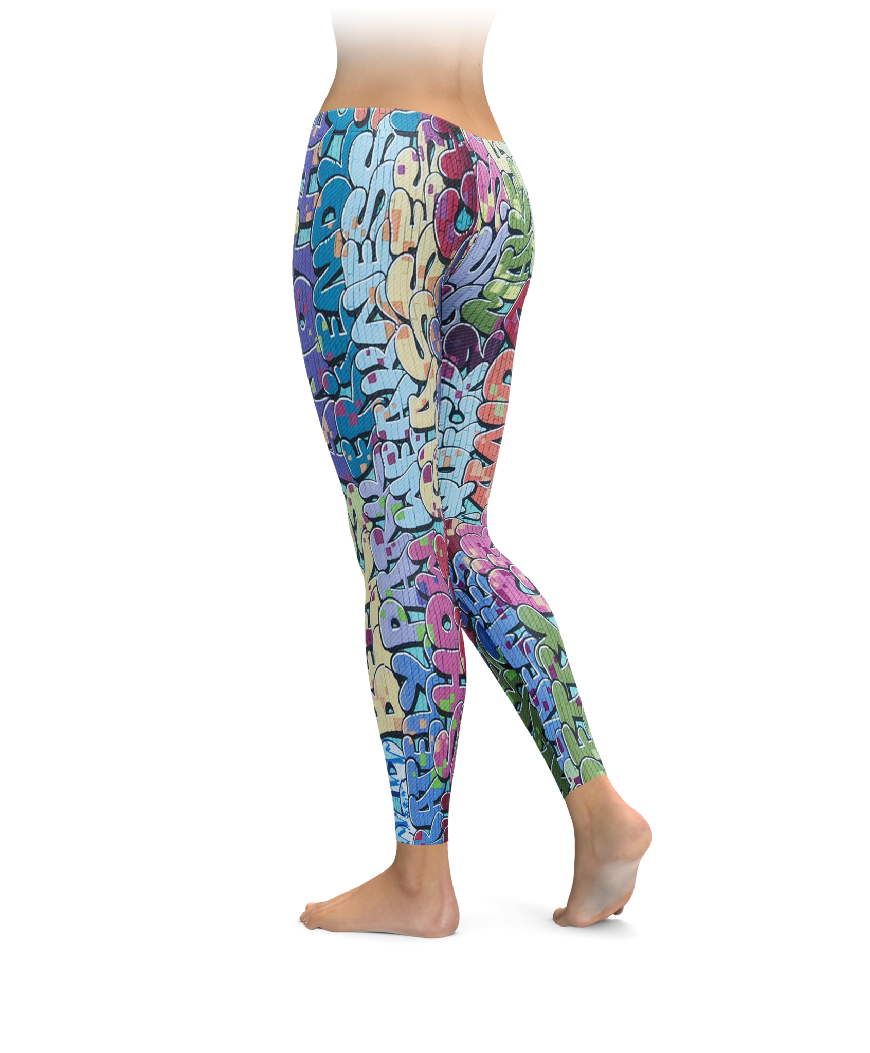 80s Style Graffiti Leggings
