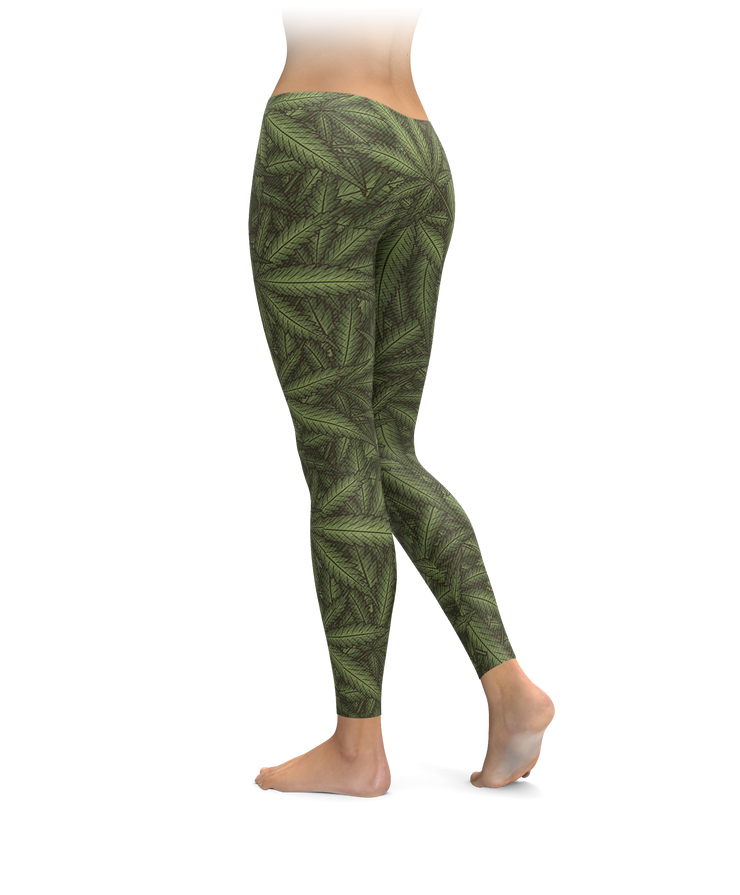 Cannabis Leaves Leggings