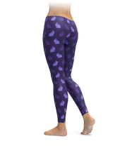 Purple Rabbit Leggings