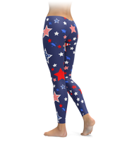 Navy USA Star Leggings