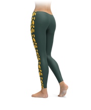 Green Bay Side Stripe Football Leggings