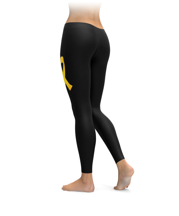 Childhood Cancer Awareness Ribbon Leggings