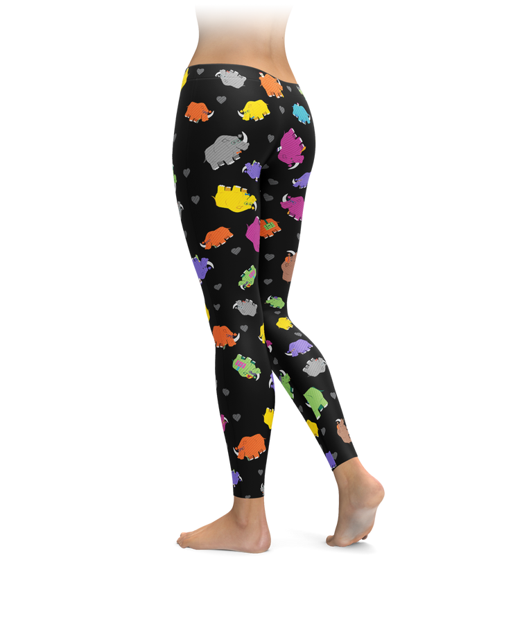 Colorful Rhino Leggings