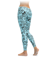 Blue Bikes Leggings