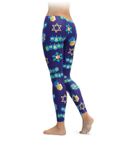 Chanukah Wrapping Paper Leggings