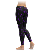 Lupus Awareness Pattern Leggings
