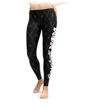 Baseball Mom Black Leggings