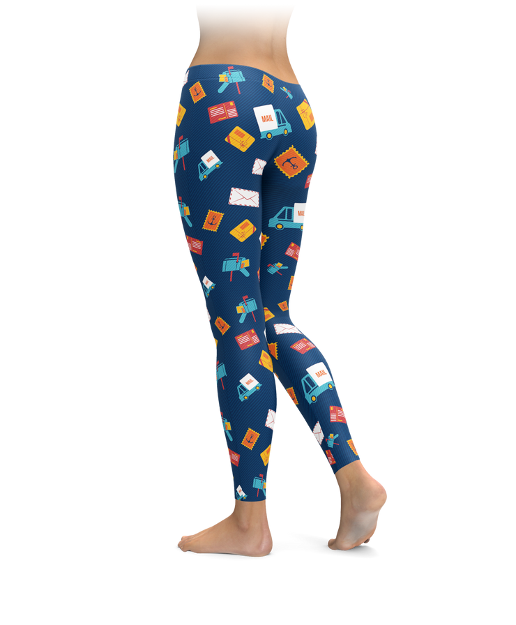 Postal Mail Leggings