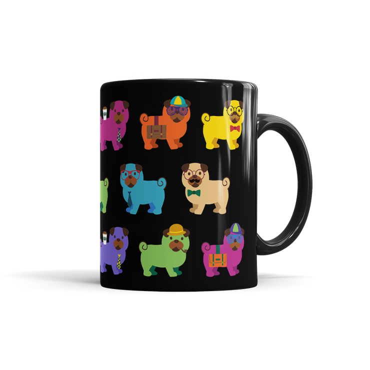 Colorful Pug Mug