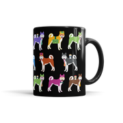 Colorful Husky Mug