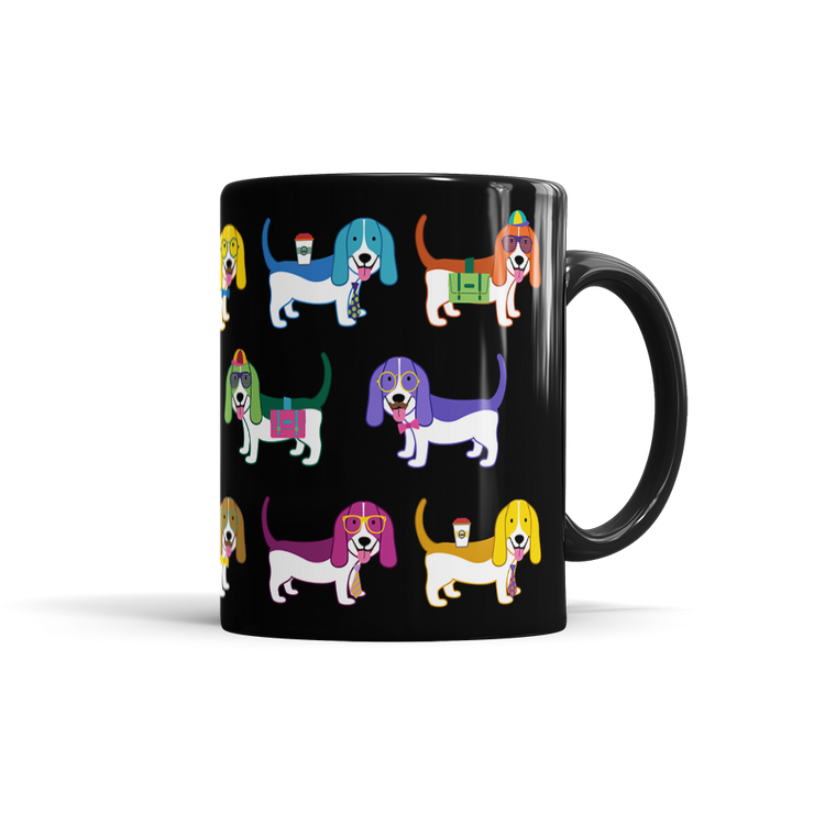 Colorful Basset Hound Mug