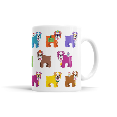 Colorful Bulldog Mug