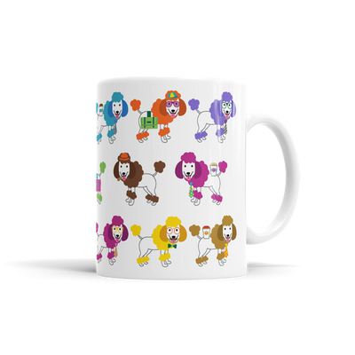 Colorful Poodle Mug