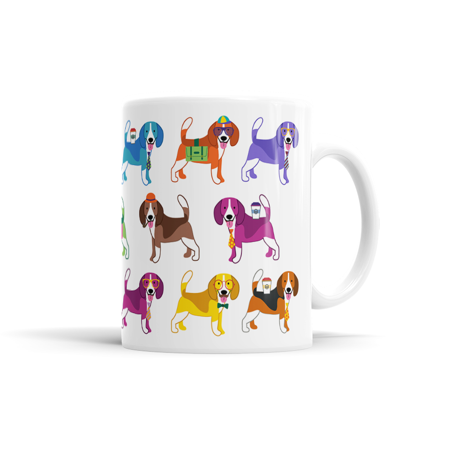 Colorful Beagle Mug