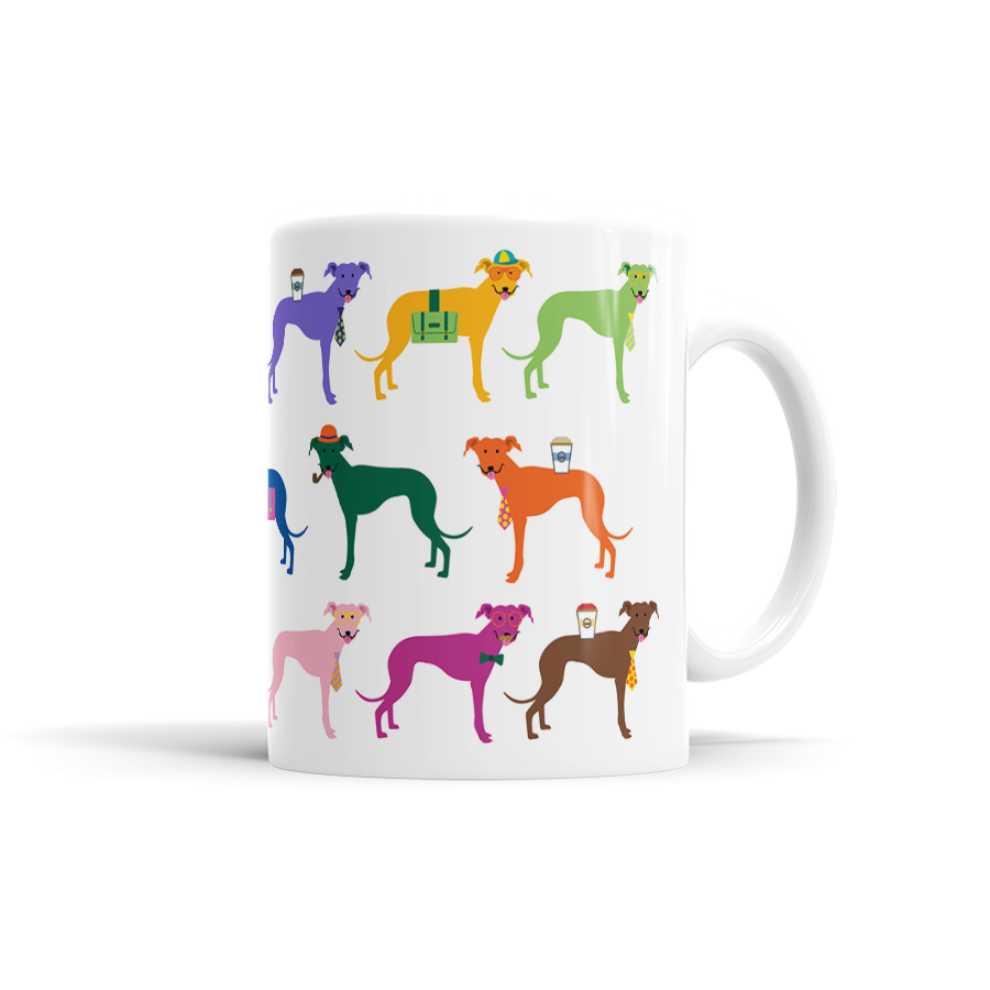 Colorful Greyhound Mug