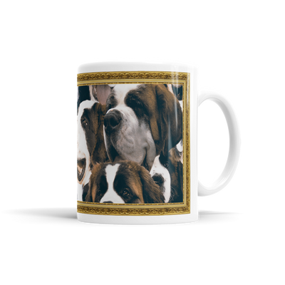 Lots Of St. Bernards On A Coffee Mug