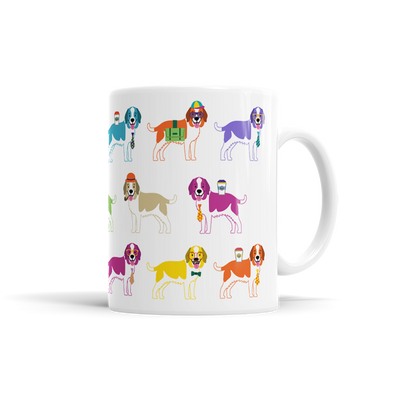 Colorful Saint Bernard Mug