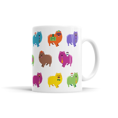 Colorful Pomeranian Mug