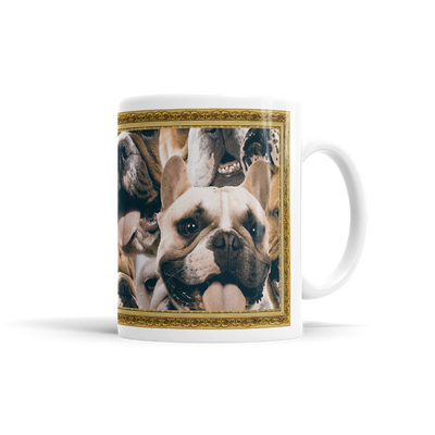 Lots Of Bulldogs On A Coffee Mug
