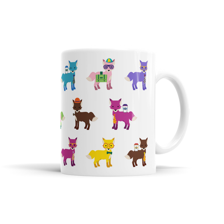 Colorful Fox Mug
